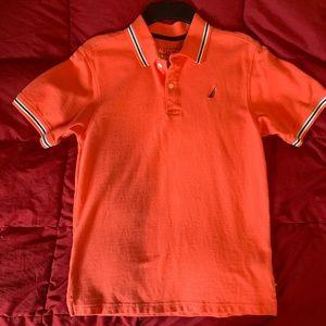 Nautica orange size L(14-16) boys polo.